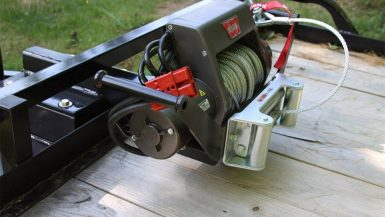 Warn Winch Mounted on Trailer